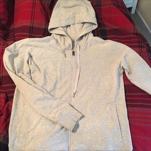 Large Lululemon hoodie jacket heather grey ❤️